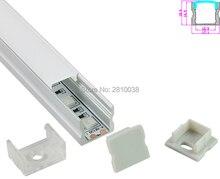10 Sets/Lot U-shape Anodized Silver LED aluminum profile AL6063 Aluminium led profile alu led extrusion for recessed wall lights