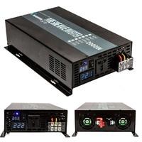 Solar Inverter 2000Watt 12 24 48VDC To 110 220VAC Power Inverter Pure Sine Wave LED Display