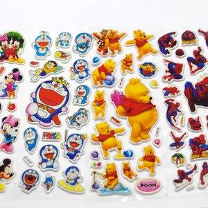 10 أجزاء/وحدة 3D منتفخ فقاعة ملصقات مختلطة الكرتون ميكي سيارات سبايدرمان Waterpoof DIY الأطفال فتى فتاة لعبة الساخن بيع