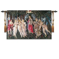 88*140CM home decoration famous painting spring Weavers wall tapestry without frame hanging European Renaissance tapestry