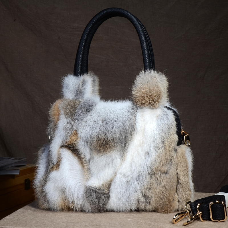 2018 New Arrival Women Real Rex Rabbit Fur Women Fur Messenger Bags Female Real Fur Handbag Ladies Fur Crossbody Bags etersto 2017 new arrival women real mink fur handbag luxry real fur bag flap bags ladies crossbody bags female bags for lady