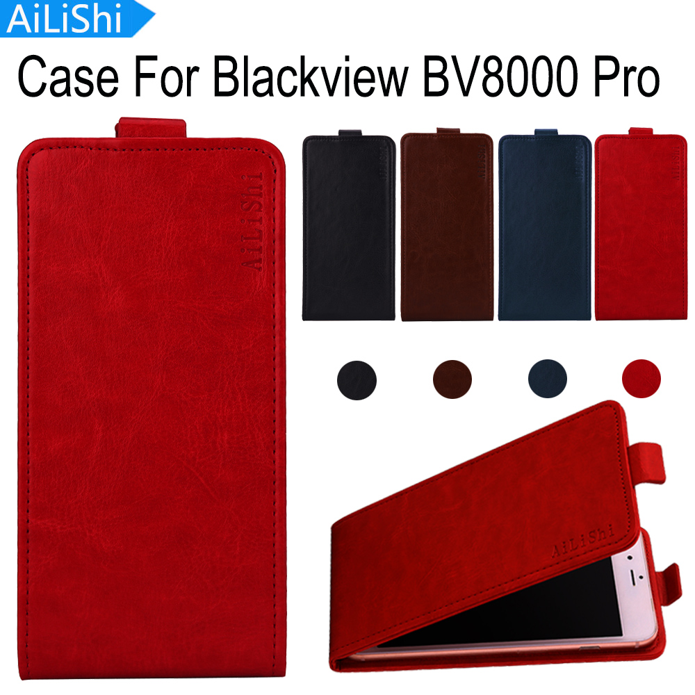 AiLiShi Factory Direct! For <font><b>Blackview</b></font> <font><b>BV8000</b></font> <font><b>Pro</b></font> <font><b>Case</b></font> Hot Leather <font><b>Case</b></font> Flip Exclusive 100% Special Phone <font><b>Cover</b></font> Skin+Tracking image
