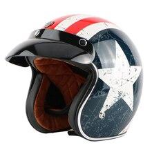 free shipping TORC HELMET motocicleta arai Jet retro moto casco capacete 3/4 open face vintage motorcycle helmet T-50 rebel star