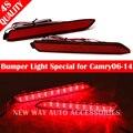 2 PCS Para Toyota Reiz/DESEJO/harrier 2010 Estacionamento Aviso DC 12 V Choques Traseiro do Refletor de Luz Vermelha Lâmpada LED 5 W lâmpada vermelha