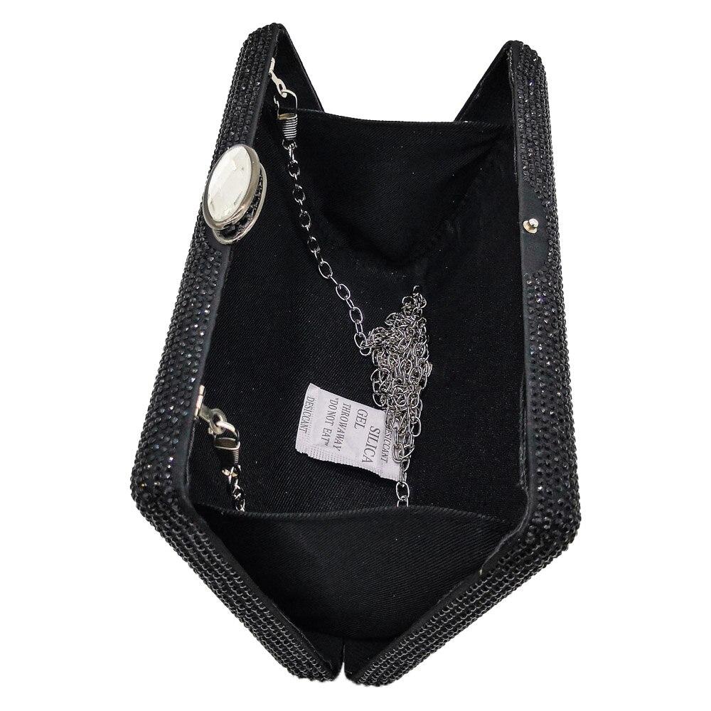 Image 5 - Boutique De FGG Dazzling Crystal Women Evening Clutch Bags Box  Handbags Diamond Cocktail Clutch Wedding Party Bridal Handbag  BagTop-Handle Bags