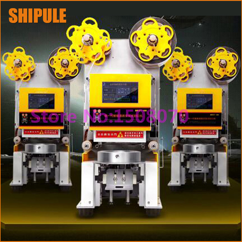 SHIPULE stainless steel automatic 450cups/h cup sealing machine,digital commercial milk tea cup sealing machine  цены