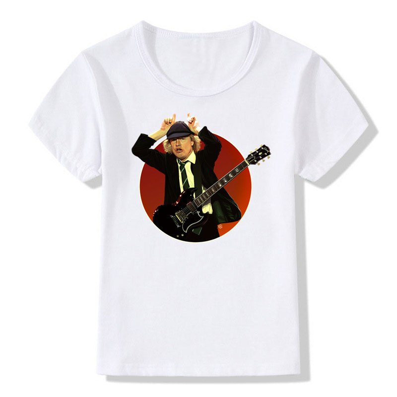 2019 crianças imprimir banda rock camiseta menino & menina gráfico heavy metal manga curta t camisa topos t roupas de bebê, ooo408