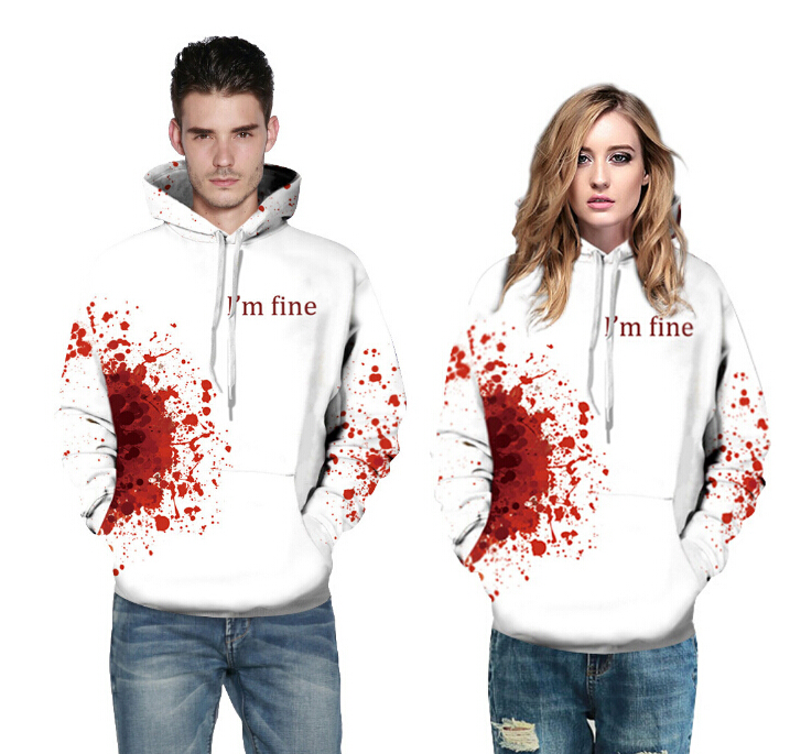 Trendy Men/Women Couple 3D Sweatshirts Print Spilled Milk Space Galaxy Autumn Hooded Hoodies Regular Couple Pullovers Tops