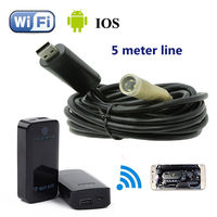 4LED 5M Endoscope Waterproof Inspection Camera Micro USB For Windows XP WIFI BOX For IOS And