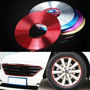 Image 1 - 8M/ Roll Rimblades Car Vehicle Color Wheel Rims Protectors Decor Strip Tire Guard Line Rubber Moulding Trim Free shipping