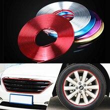 8m/rolo rimblades carro veículo cor roda jantes protetores decoração tira pneu guarda linha de borracha moldagem guarnição frete grátis