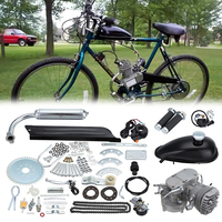 (Shipping From AUD) Bike Petrol Gas Engine Kit 80cc 2 Stroke 26 28 Motorized Bicycle Motor Engine Kit