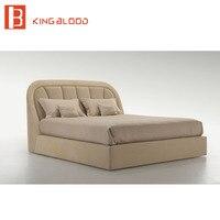 Роскошный дизайн Европейский стиль мягкая кожаная кровать набор мебель для спальни