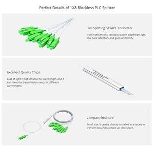 Image 4 - 10pcs/lot 0.9mm Steel Tube Fiber Optic PLC Splitter 1x8   1x16 SC/APC Mini Blockless 1*8 SC APC Connector Free Shipping