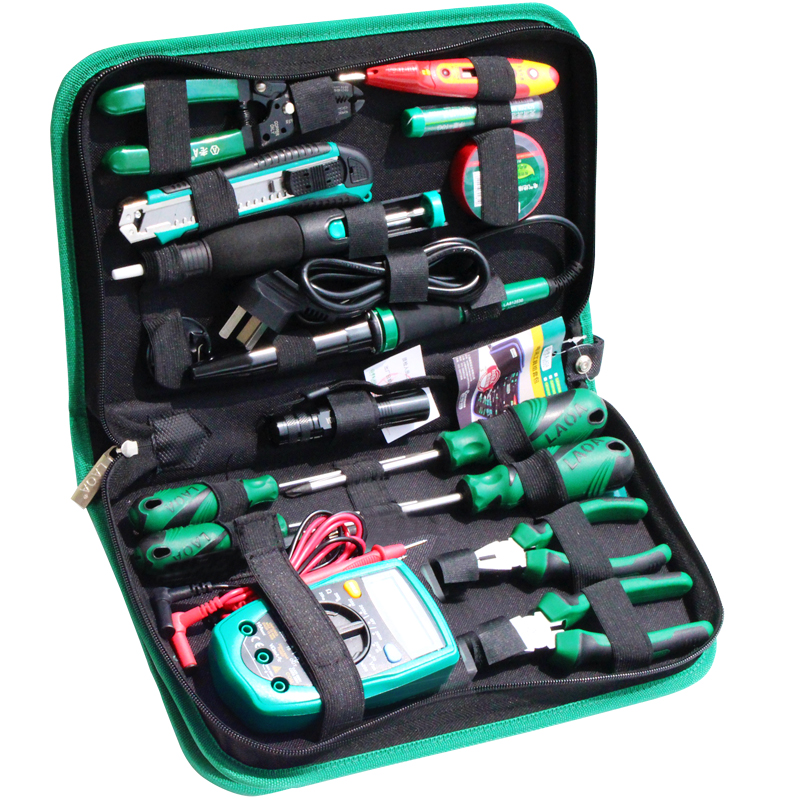 Electric Multimeter Set Repair Knife 16PCS Utility Handle Iron Screwdriver Soldering Tool LAOA Pliers Tools Telecommunications