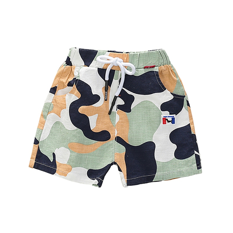 Boys Pants Summer Kids Boys Print   Short   Pants Trousers Kids Knee Length Casual Cotton   Shorts   for Boys