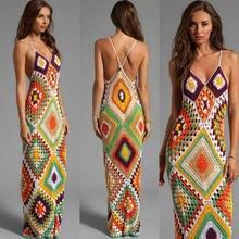 Сексуальное платье для пляжа свадебное длинное бандаж и квадраты