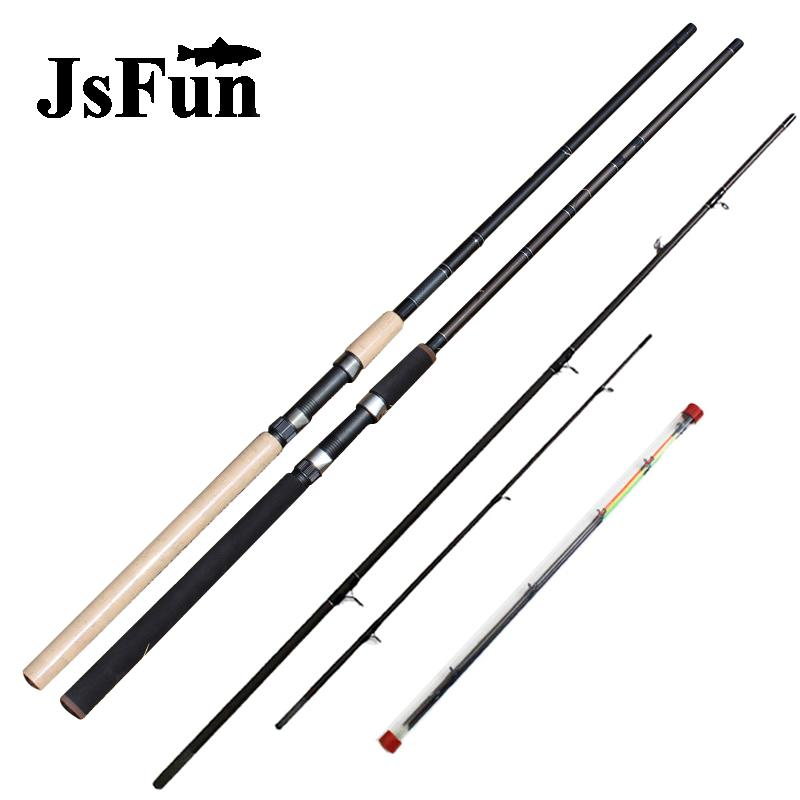 3.3m 3.6m Feeder Rod 3 Section Carbon Fiber Lure Fishing Rod Spinning With Spare 3 tips Distance Throwing Rod FG168