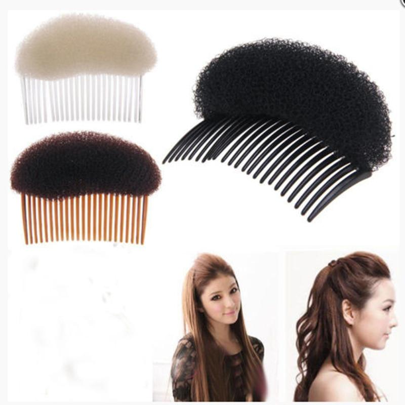 Makeup Comb Hair Brush Pro Hair Puff Paste Heightening