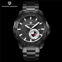 PAGANI luxury brand design mens all-steel waterproof mechanical watch 2018 new black dial chronograph has been dropped