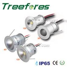 1W IP65 12V 15mm 25mm 미니 LED 통 야외 정원 욕실 복도 천장 자리 전구 빛 스파 사우나 조명 램프 CE