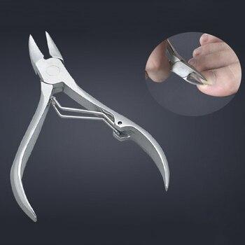 Машинка для стрижки ногтей из нержавеющей стали, резак для пальцев ног, кусачки для кутикул, инструмент для маникюра, для толстых вросших ногтей, для ухода за ногами