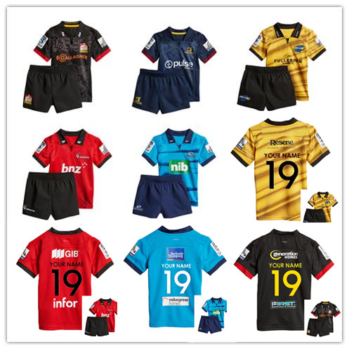 f98d37efa15 2019 New Zealand Super rugby Jerseys Chiefs Rugby Highlanders Super Rugby  Blues kids KIT hurricanes kids