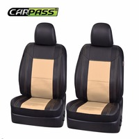 Car Pass Front Two Pu Leather Auto Car Seat Covers 2 Color Car Seat Protector