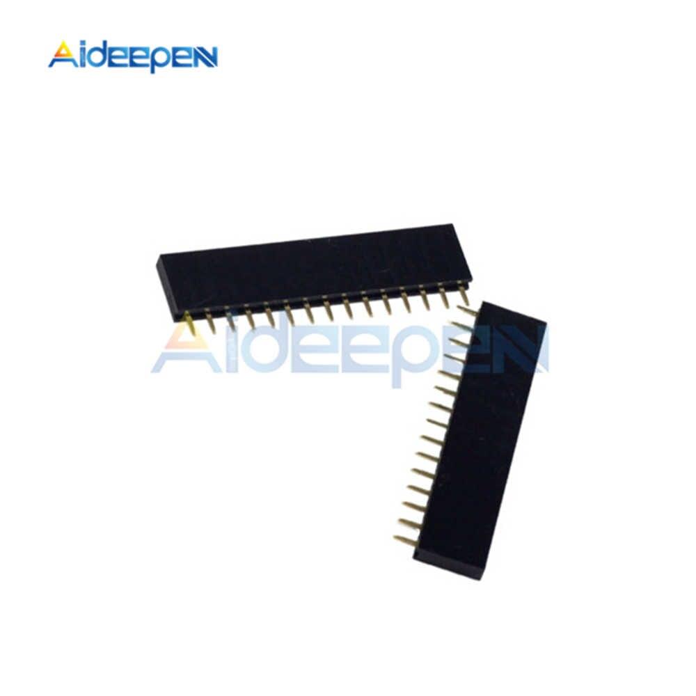 20 Chiếc 15 Pin Hàng Đơn Thẳng Nữ Pin Đầu 2.54 Mm Dây Ổ Cắm Nối 1X15 15Pin Cho Arduino PCB