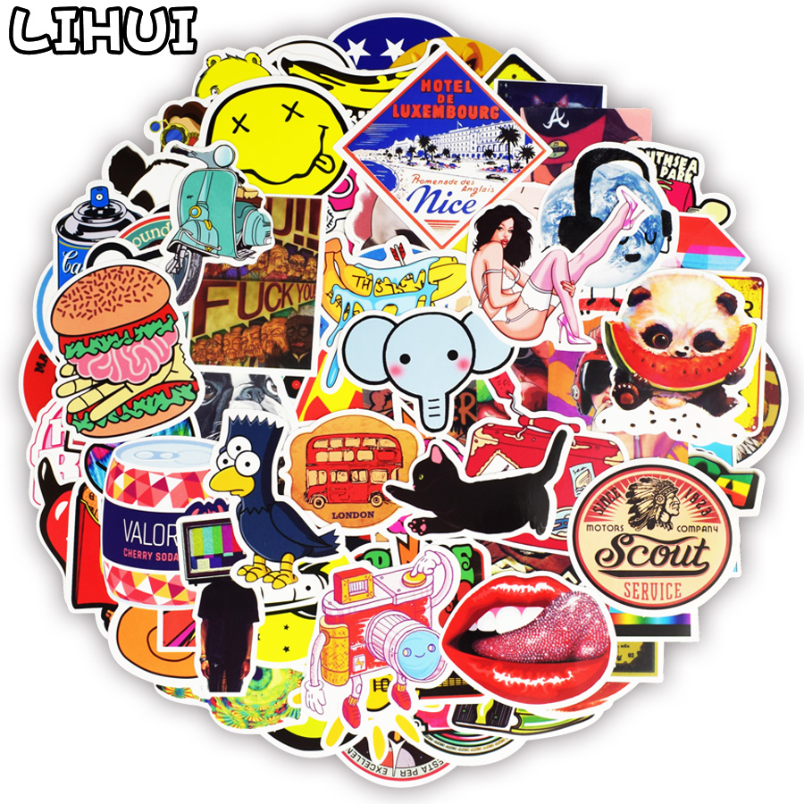100 PCS Graffiti Stickers Retro Animal Creative Cool Waterproof Sticker for Suitcase Laptop Bike Motorcycle Helmet Car Stickers