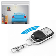 A Distance Learning Electric Garage Door Controller 433 MHz RF Remote Control Copy 4 Channel Cloning Duplicator Key Fob electric control lock remote control system press on release off time delay 3 12s garage entrance door remote controller 315 433