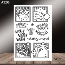 AZSG Cartoon Christmas Santa Claus Reindeer Clear Stamps For DIY Scrapbooking/Card Making/Album Decorative Silicone Stamp Crafts