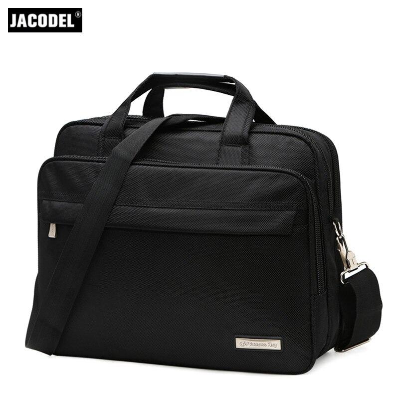 Jacodel Business Large Crossbody 15.6 Inch Laptop Briefcase for Men HandBag for Notebook 15 Laptop Bag Shoulder Bag for Student jacodel unisex waterproof 13 14 15 15 6 inch laptop shoulder bag for men women 2017 notbook bag 15 6 14 13 3 inch messenger bags