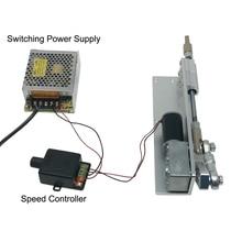 DIY Design DC 12V Linear Actuator Reciprocating Motor Stroke 30 50 70mm Switching Power Supply 110V