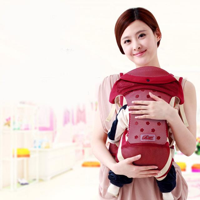 2016 Verão Respirável Multifuncional Baby Carrier Infantil Confortável Sling Backpack Suspensórios Bebê Cuidados Com o Bebê... MKD011 PT49