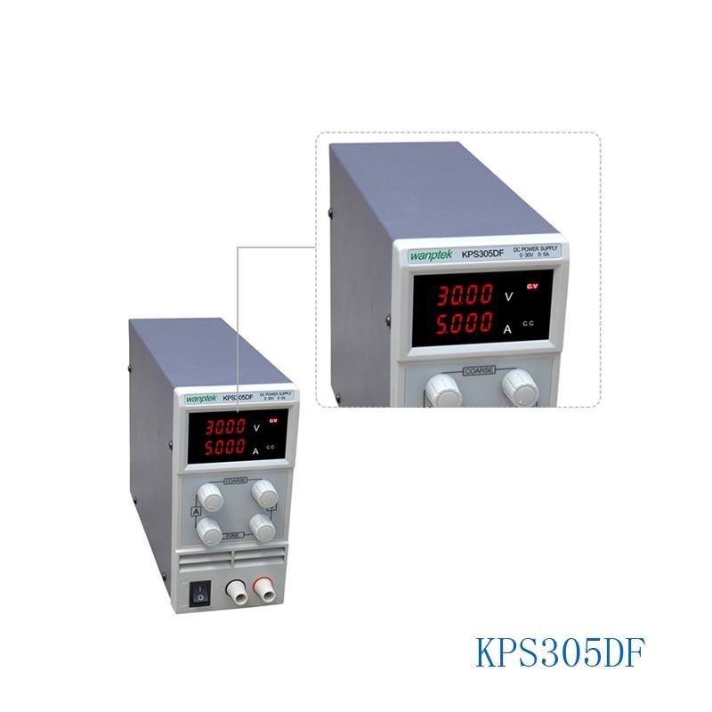 KPS305DF 0-30V/0-5A 110V-230V 0.1V/0.001A EU LED Digital Adjustable Switch DC Power Supply mA display rps3020d 2 digital dc power adjustable power 30v 20a power supply linear power notebook maintenance