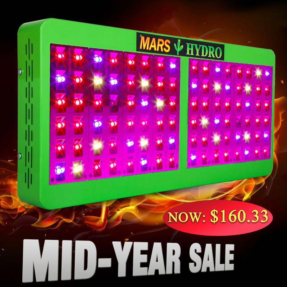 Mars Refletor Hidro 600 W Cresce A Luz LED Full Spectrum IR para Plantas de Interior Hidropônico Estufa Indoor Semeadura e Floração