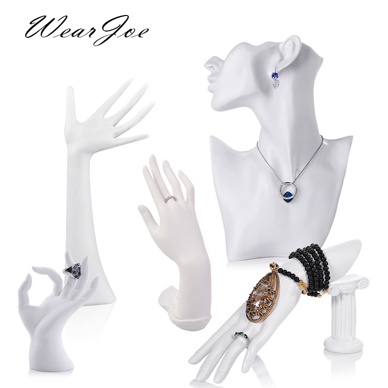 Elegant Resin Mannequin Ring Earring Bracelet Jewelry Pendant Necklace Display Stand Holder Bust Model Show Decorate Counter Kit