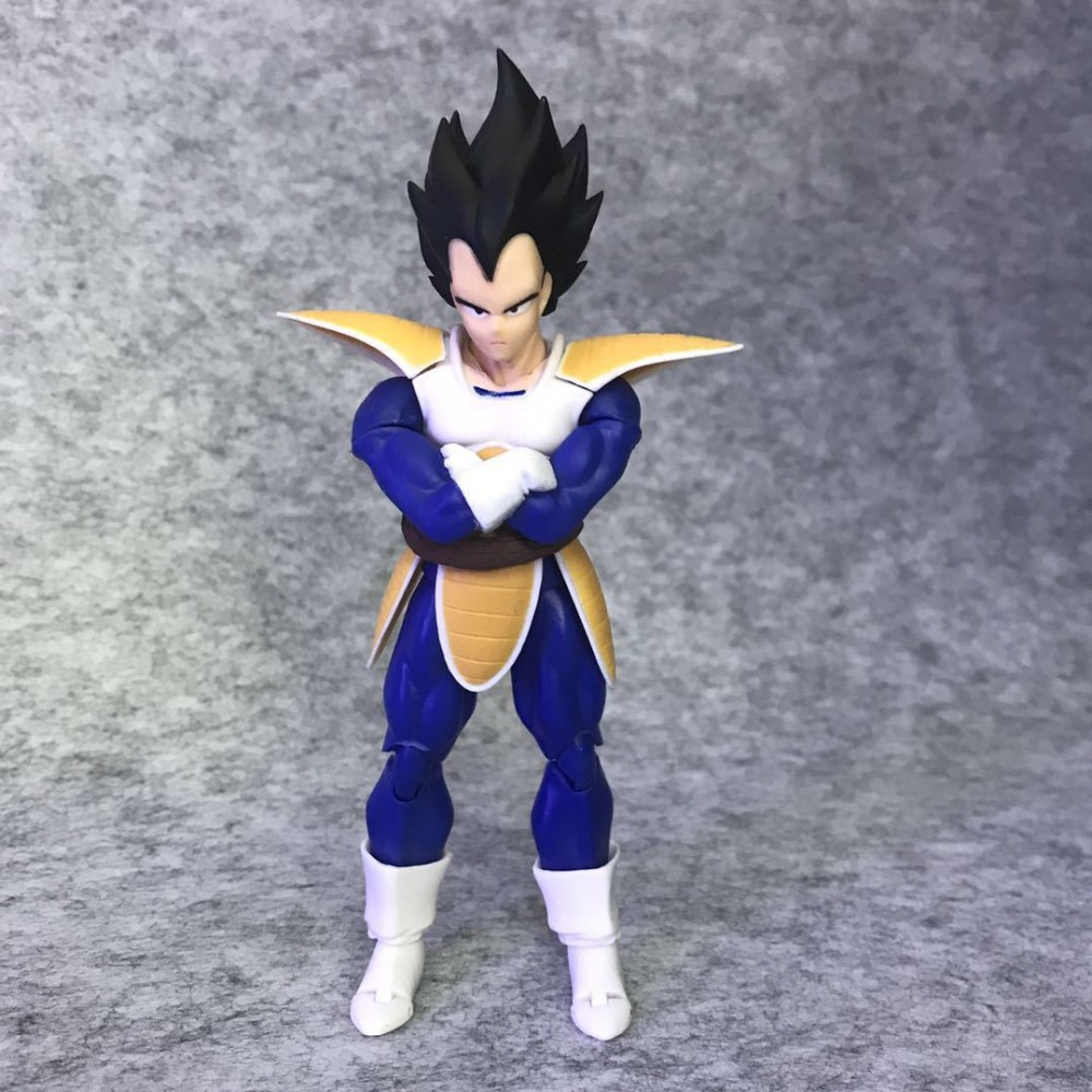SHF S.H.Figuarts Anime Dragon Ball Z Super Saiyan Vegeta Black Hair PVC Action Figure Co ...