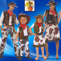 Disfraz de Halloween Cosplay Costume Make Up Party Dress Up Occidentales Vaquero Ropa de Padres e Hijos B-4079