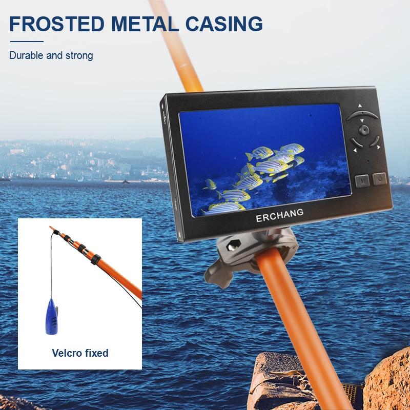 Erchang 15m Fishing Camera Fish Finder 1000TVL 8PCS White LED Underwater Ice Fishing Camera 4 3