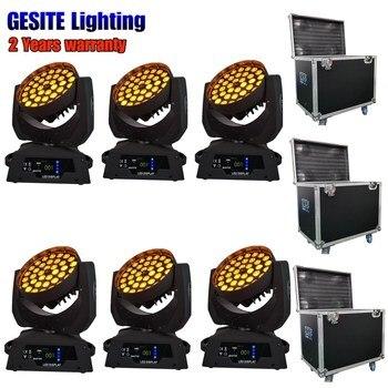 Rode kasus Grosir pabrik harga LED lampu Kepala Bergerak Mencuci Zoom 36X15 W RGBWA/LED Aura Zoom Mencuci Hotel dj disco lampu