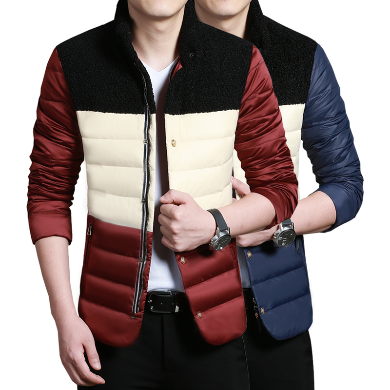 ФОТО winter jacket men 2017 warm jacket parka Men's winter models thick warm jacket collar Slim Korean version of casual men's jacket