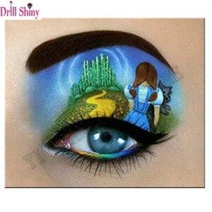 5D Diy Алмазная Вышивка красивые глаза Алмазная картина крестиком картины из страз Мозаика Декор рукоделие подарок PR34