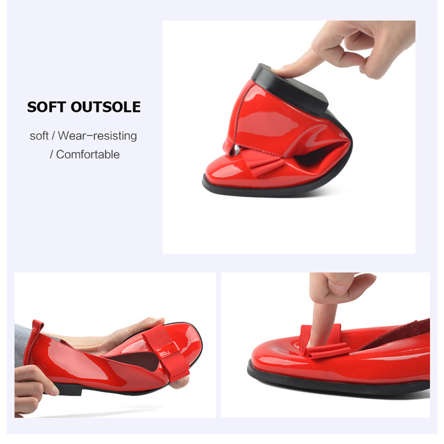 Donna-in Ballet Flats Shoes Women Genuine Leather Ballerina Summer Casual Black Red Slip on shoes for Women slipony mocasin 2018 3