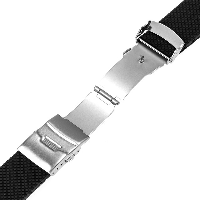 Silicone Rubber Watchband 22mm for Samsung Gear 2 R380 Neo R381 Live R382 Gear S3 Galaxy Watch 46mmm Band Safety Buckle Strap