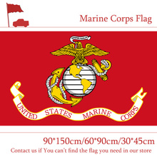 Free shipping 3x5ft American Flag Of The Marine Corps 30*45cm Car 90*150cm 60*90cm For Office Decoration