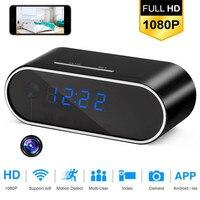 SOONHUA Z10 Table Clock 1080P HD Camera Alarm Setting Mini Camera IR Night Vision Wireless Wifi Clock Camera Mini DVR Camcorder