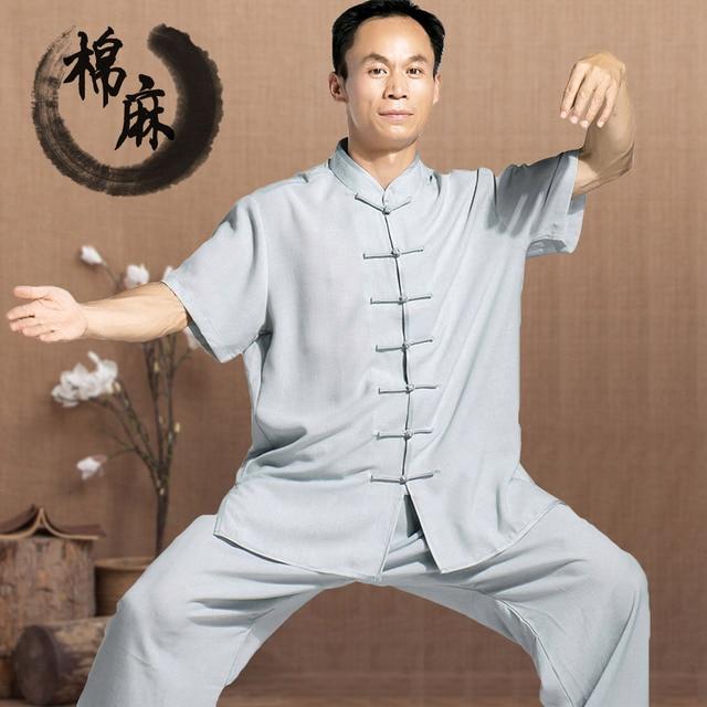 Тай-чи одежда из хлопка и льна Тайцзицюань одежда с длинным рукавом с коротким рукавом белье одежды боевых искусств Кунг-Фу Униформа