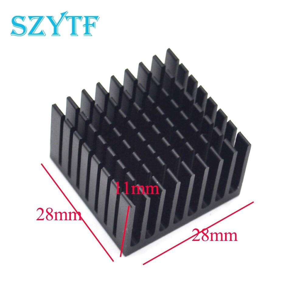 50pcs Heat sink 28 * 28 * 11MM (black slot) high-quality radiator
